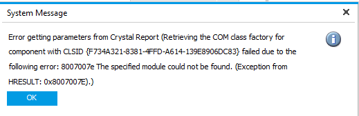 SAP Issue - Could not load file or assembly'CrystalDecisions